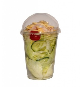 Convenience store salad-in-a-cup